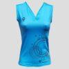 Camiseta de pádel o tenis azul
