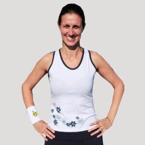 camiseta de pádel para mujer algodón