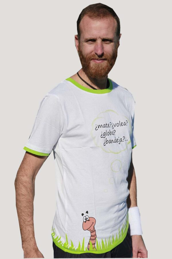 camiseta de pádel de algodón manga corta