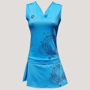 conjunto de pádel para mujer azul