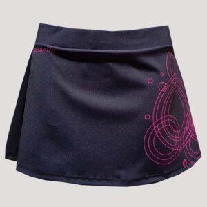 Falda de pádel o tenis negra