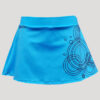 Falda de pádel o tenis turquesa
