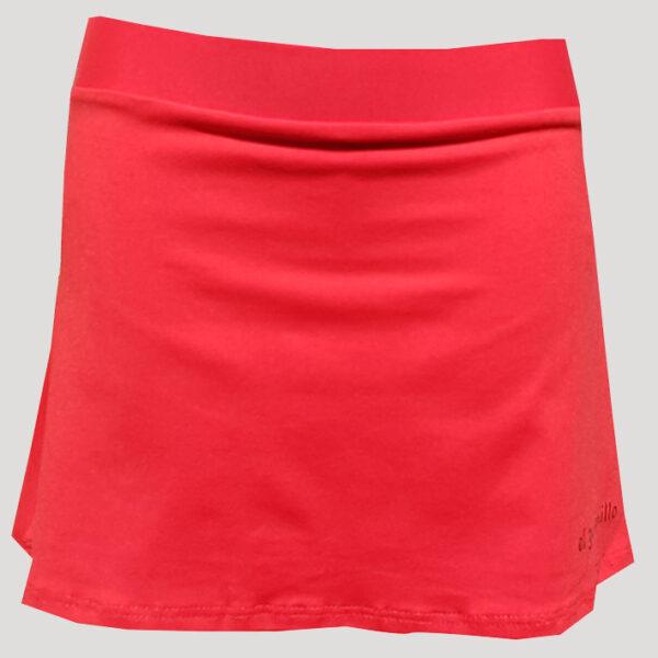 falda de pádel o tenis roja