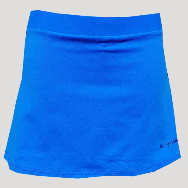 falda de pádel o tenis azul