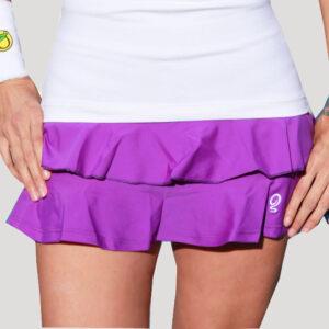 Falda de pádel o tenis con volantes