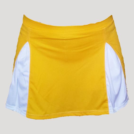 falda de pádel o tenis amarilla
