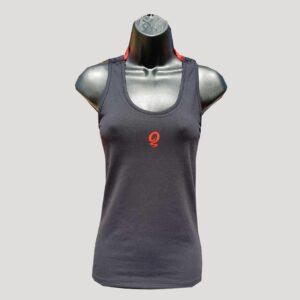 camiseta de pádel o tenis negra