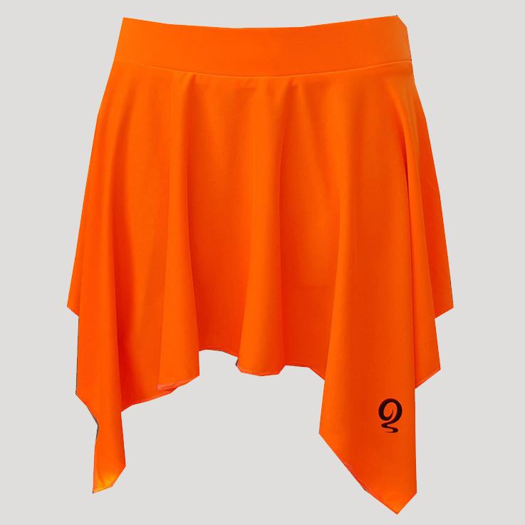 Falda de pádel con picos naranja