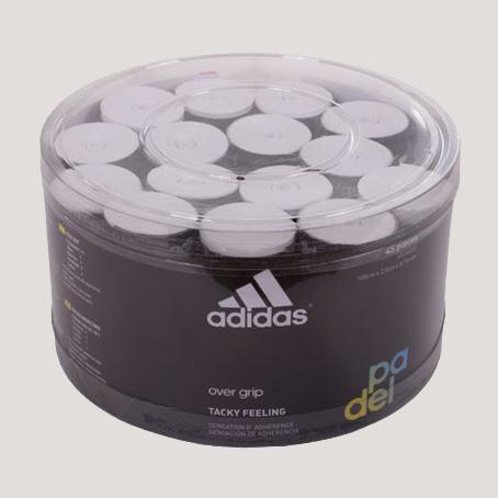 Overgrips Adidas microperforados blancos